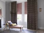 TS 2019 CAPSULE HARLEQUIN OCHRE KELAMBU GRAPHITE MUSTARD CURTAIN PINK ACCENTS HEATHER BLIND LIVING LANDSCAPE (4)