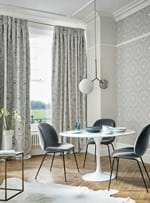 TS HARLEQUIN GREY CURTAINS CADENCIA FRENCH GREY 1 DINING SQUARE