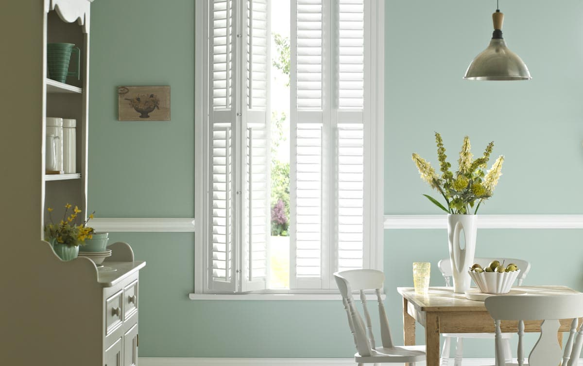 Classic Wooden Dining Room Shutters