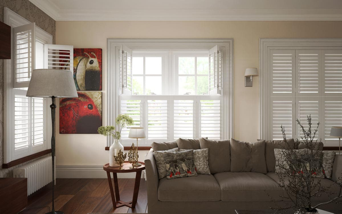 Tier on Tier Living Room Shutters