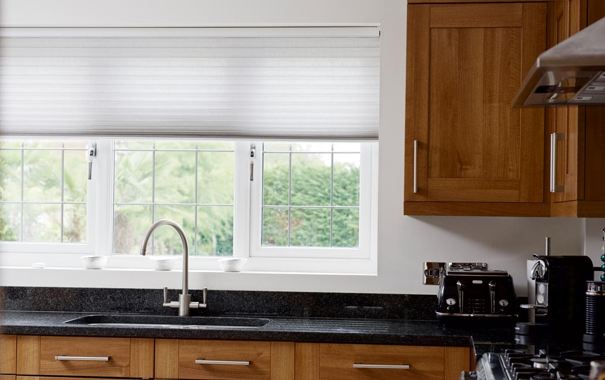 thomas made kitchen with to min blinds measure sanderson window duette