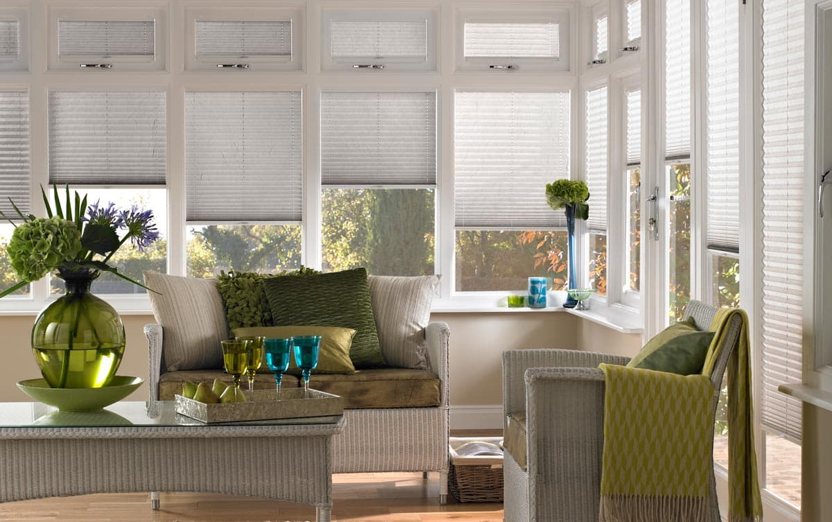 Pleated Blinds for the Conservatory