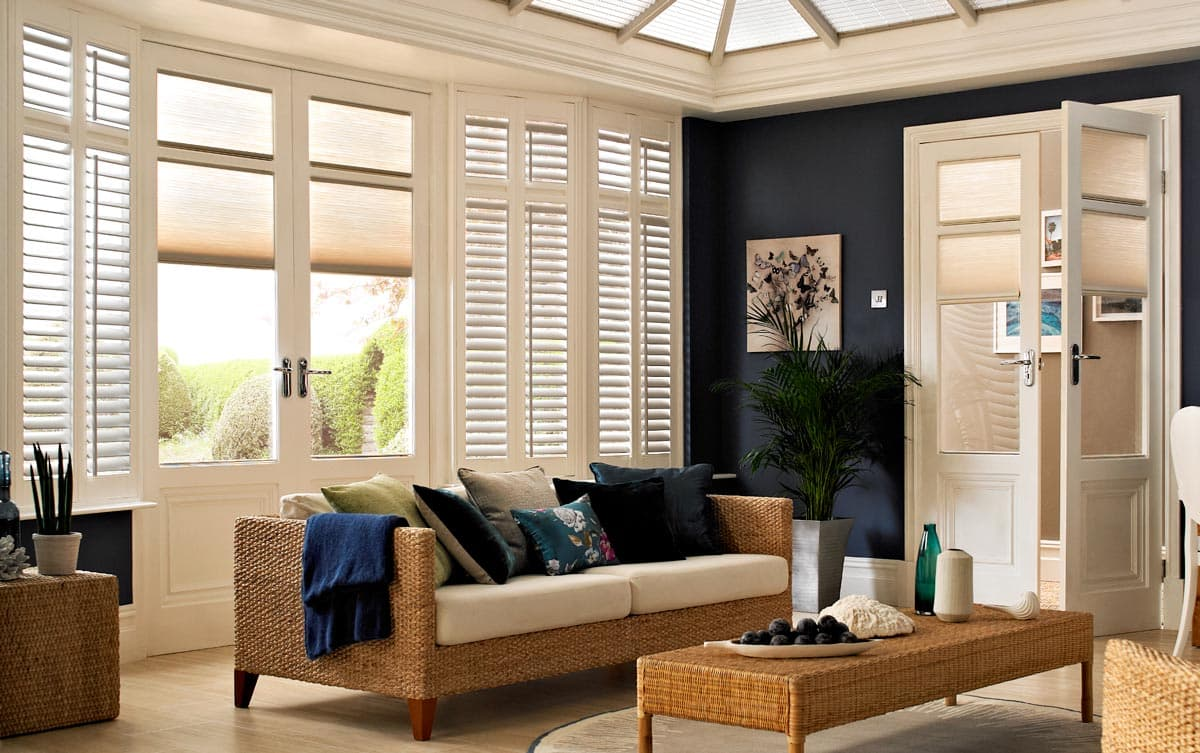 conservatory shutters made to measure thomas sanderson. Black Bedroom Furniture Sets. Home Design Ideas
