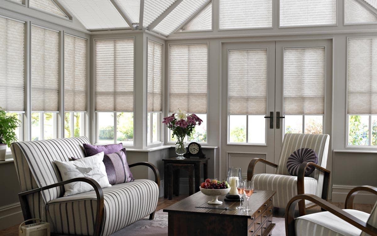 Pleated Laura Ashley Blinds