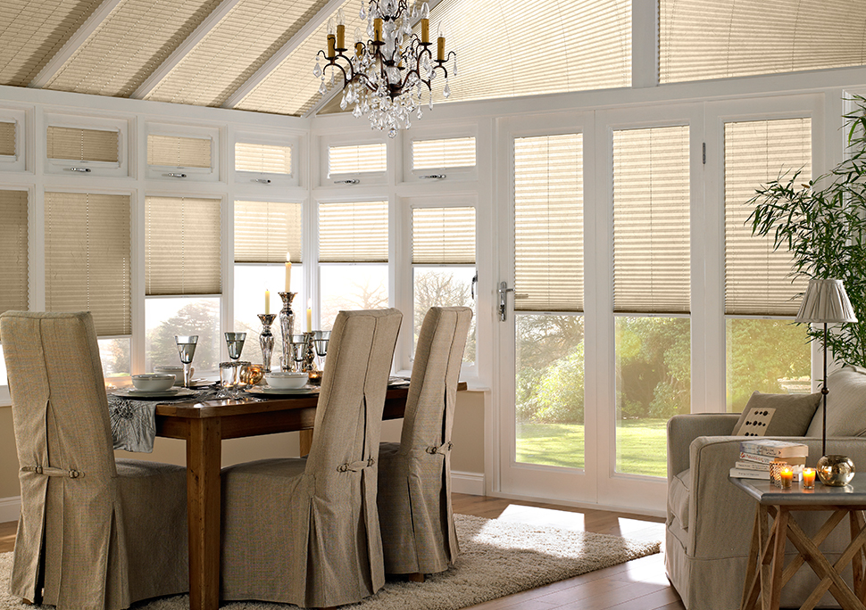 Pleated High Conservatory Blinds