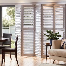 Door shutters in living room