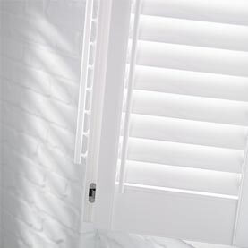 Bathroom shutters close-up