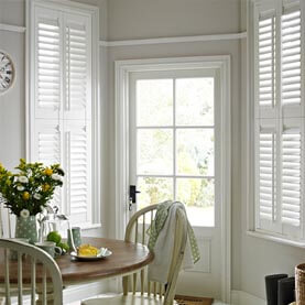 White tier-on-tier kitchen shutters