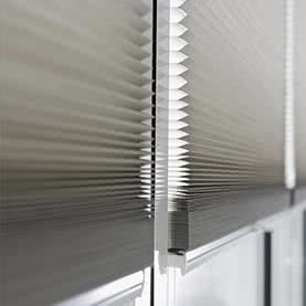 Close up of Thermal patio door blinds