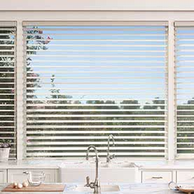 Large Silhouette window blind tilted open