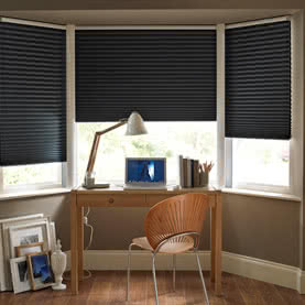 Close up of Silhouette blind in office