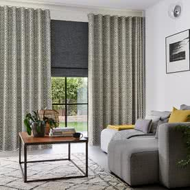 Wave curtains in a living room